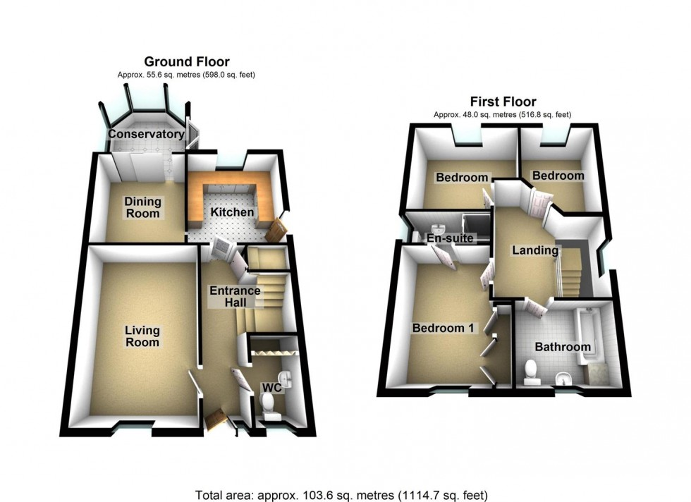Floorplan for Blackdown Mead, Cheddar